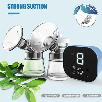 Baby Electric Breast Pump Smart Suction Quiet Automatic Device with Milk Bottle