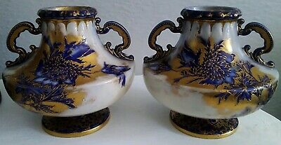 Beautiful Antique Early 20th Century Vases by Wiltshaw and Robinson Carlton Ware