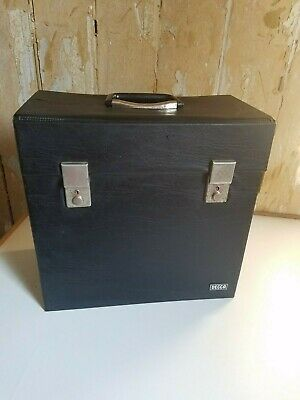 Vintage Decca Vinyl Lp Record Storage Box Case