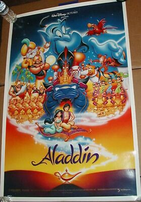 ALADDIN MOVIE POSTER Original Numbered One Sheet DISNEY DS 27x40 UNUSED!