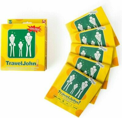 5 Travel John Disposable Vomit Urine Economical Travel Bags Lot Motion Sickness