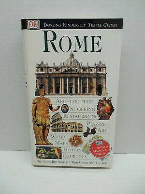 Rome Italy Dorling KindersleyTravel Guide Book Piazzas Maps Churches Art