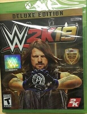 WWE 2K19 Deluxe Edition Xbox One Game BRAND NEW SEALED ----------16