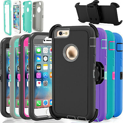 For Apple iPhone 6 & 6S Case Cover Defender with Belt Clip Fits Otterbox Series