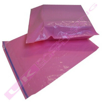 "LARGE PINK POSTAGE MAILING BAGS 14 x 20"" MAIL SACKS CHEAP *MULTI ITEM LISTING*"