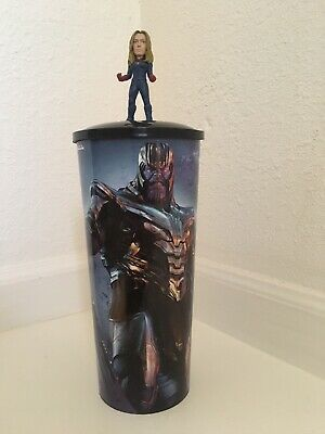 Avengers Endgame 44 oz Theater Cup W/ Captain Marvel Topper Lid NEW Style 2