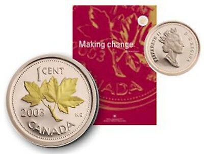 2003 Royal Canadian Mint Annual Report with GOLD-Plated PENNY