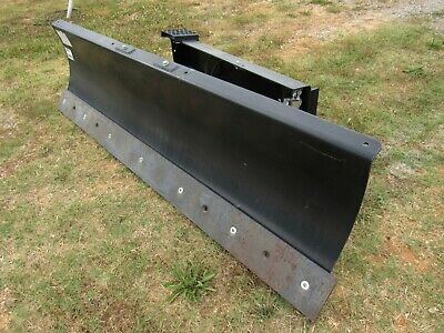 """CAT 84"""" Wide Skid Steer Hydraulic Angle Snow Dozer Blade Attachment - Ship $199"""