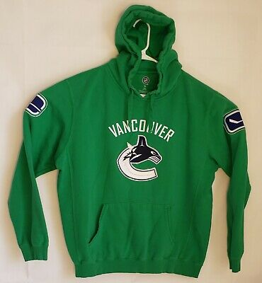 e53eca6bc3 NHL Vancouver Canucks Mens Size XL Green with Embroidered Patches Fleece  Hoodie
