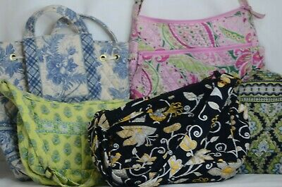 Vera Bradley Lot Of  Variety 5 Bags Purse Tote Print Quilted Handbags,Backpack