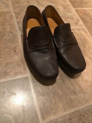 c4457d26e Gucci Damo Chabas Pebbled Mens Driving Brown Moccasin Loafers 10.5 US (9.5  G)