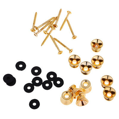 20Pcs Strap Lock Button Pin for Acoustic Electric Guitar Ukulele Bass Parts