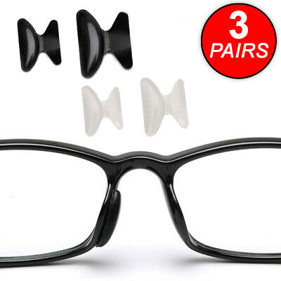3 Pairs Anti-slip Silicone Stick On Nose Pads For Eyeglasses Sunglasses Glasses