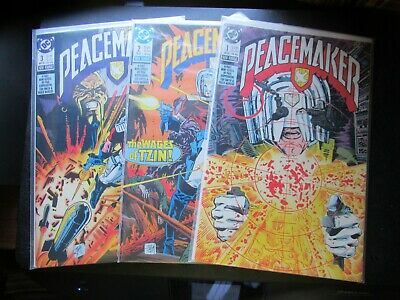 DC Comics  PEACEMAKER   3 Book Lot all mint  Bags and Boards