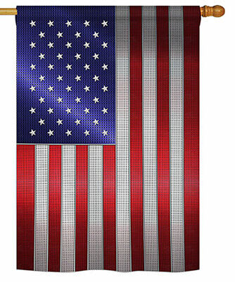 28 in. x 40 in. Steely American Banner Flag, Double Sided Dye Sublimation