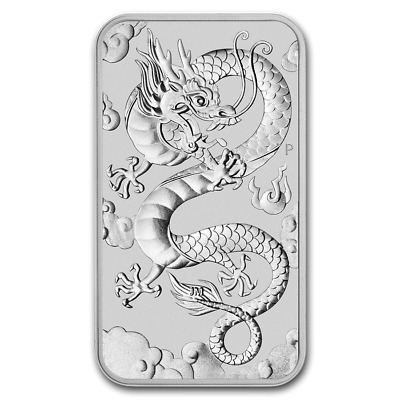 Lingot DRAGON 2019 1 Once argent pur 9999 / PERTH MINT 1 Oz Fine Silver 9999 Bar