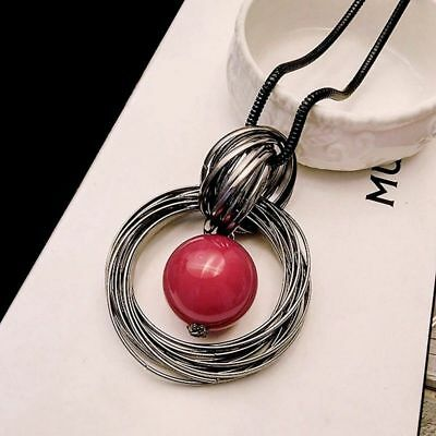 Long Chain Pearl Pendant Necklace Jewelry Sweater Decor Women Gift Fashion Best