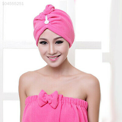 1CCA 100% Cotton Turbie Twist Hair Wrap Drying Towel Turban Soft Bath Loop Faste
