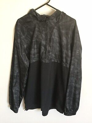 NEW Mens Under Armour Wind Anorak Jacket Pullover Black/Grey Sz Large RRP $89.95