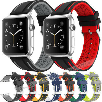 38/42/mm Silicone Sport Band Strap For Apple Watch iWatch Series 1 2 3 4 40/44mm