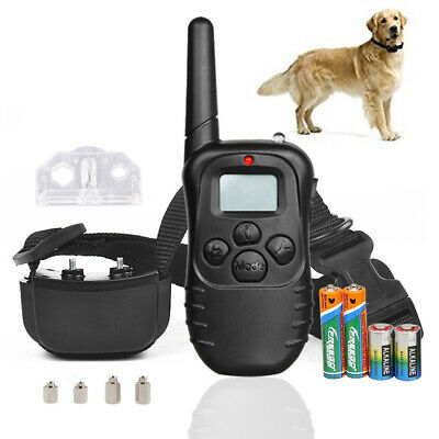 Dog Shock Collar With Remote Waterproof Electric for Large Pet Training +battery