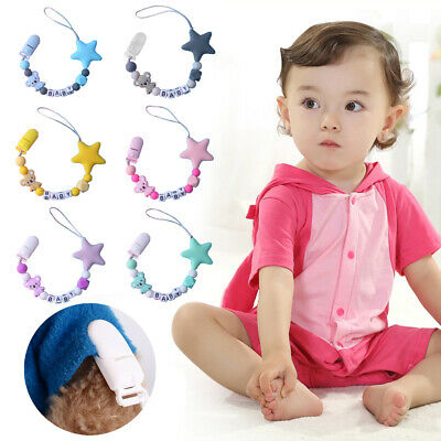 Infant Silicone Pacifier Chain Clip Baby Supplies Anti-chain Koala Star Modeling