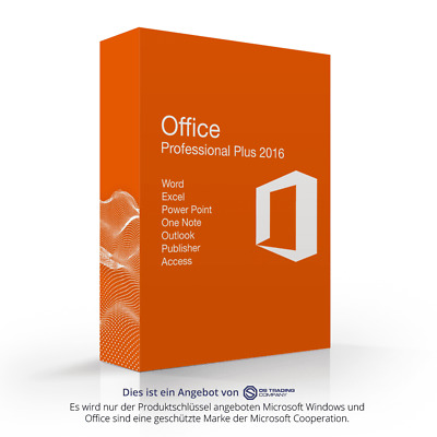 Microsoft Office 2016 Professional Plus MS Pro esd Word Exel Outlook Power Point