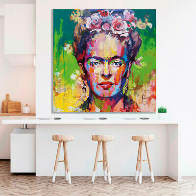 Frida Kahlo Wall Art Print Stretched Canvas Prints  Abstract Artwork  Decor