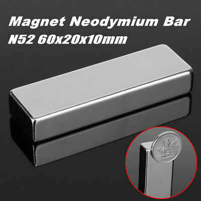 N52 Block Super Strong Magnet Neodymium Permanent Rare Earth Magnet 60x20x10mm