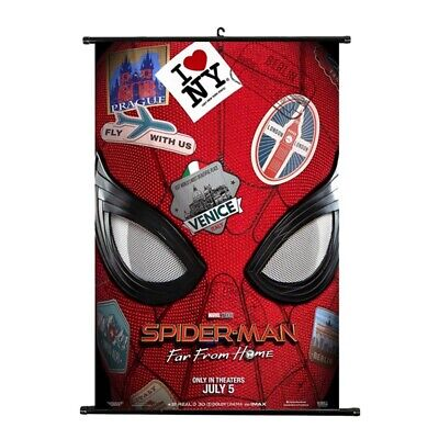 Spider Man: Far From Home Wall Scroll Cloth Poster Art Home Decoration UK Stock