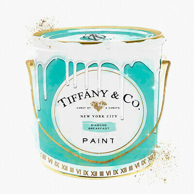 Tiffany & Co New York City Paint Abstract Wall Art Print Stretched Canvas Prints