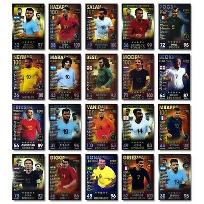 Match Attax 101: Limited Editions. Legends. 100 Clubs. Internationals. 2019. NEW