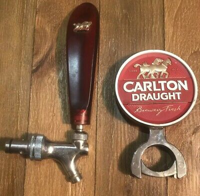 Carlton Draught Beer Tap/handle / badge NEAR NEW!