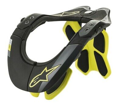 Alpinestars Bionic Neck Support Bns Brace Black Yellow Fluo Motocross Adult Bmx