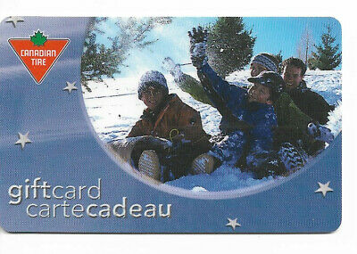 Canadian Tire Gift Card Var-Ft-01 Family Tobogganing
