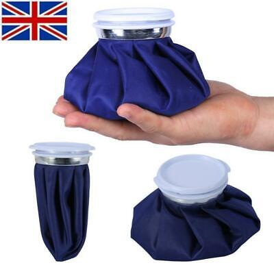 UK Ice Bag Heat Cold Cooler Pack Reusable Injury Knee Head First Aid Pain Relief