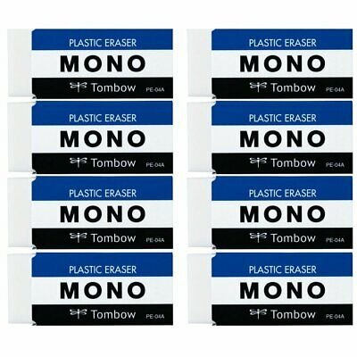 Tombow Mono Plastic Eraser PE04 8 Pieces F/S JAPAN Trusted brand products!