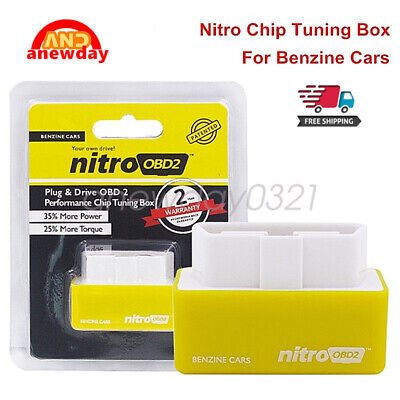 Nitro OBD2 Chip Tuning Box Petrol Car Power Engine ECU Remap Performance Chip