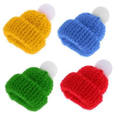 4 Colors Beanie Hats Caps Doll House Miniatures Room Decoration Accessory