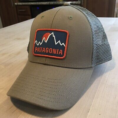 35bb5c93 Patagonia Firstlighters Badge Lopro Trucker Hat - New Without Tags - Ash Tan