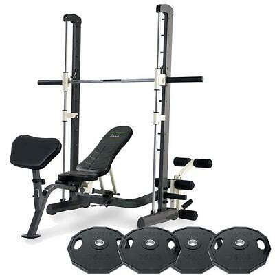 Tunturi Pure Smith Machine Weight Bench with 100kg Olympic Weight Plates