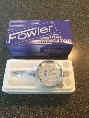 "Fowler 52-520-110-0 - 0-1"" - 0-100 Dial Indicator - NEW!!"
