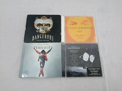 MICHAEL JACKSON job lot of 4 CD albums Dangerous Invisible This is it History