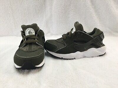 d7f4f505d8 Nike Huaraches Run Infant/toddler Boys Olive Green Shoes--size 11 C