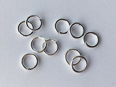 925 Sterling Silver Open Jump Rings 7mm - Various Quantities