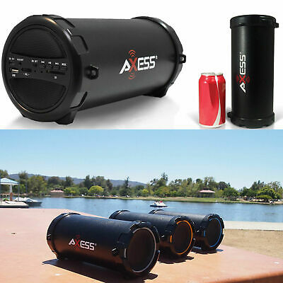 Portable Loud Speaker Wireless Bluetooth Rechargeable Bass Stereo Black Party