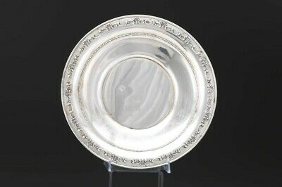 """Gorham Sterling Silver Round Plate / Tray / Platter 1123 with Scroll Design 10"""""""