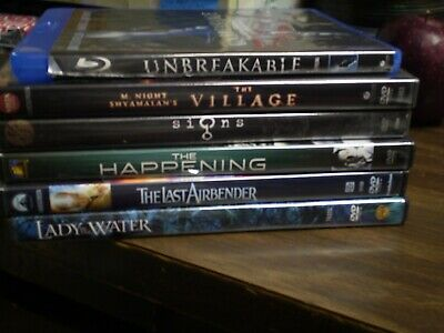 (6) M. Night Shyamalan DVD Lot: The Happening  Village  Signs Unbreakable & MORE