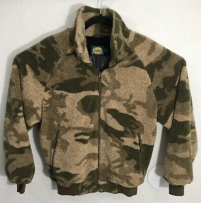 095688f15648e Cabela's Outfitter Camo Berber Fleece Windproof Jacket Mens Medium Windshear