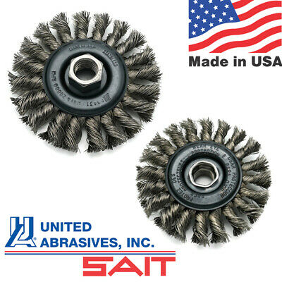 United Abrasives SAIT Stainless Steel 4 in Wire Wheel for Metal - Regular Twist